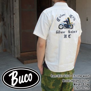 <img class='new_mark_img1' src='//img.shop-pro.jp/img/new/icons28.gif' style='border:none;display:inline;margin:0px;padding:0px;width:auto;' />BUCO MOTORCYCLE CLUB SHIRT / SILVER SAINTS クラブシャツ