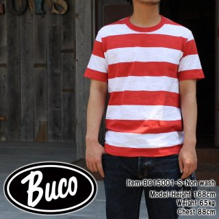 <img class='new_mark_img1' src='https://img.shop-pro.jp/img/new/icons28.gif' style='border:none;display:inline;margin:0px;padding:0px;width:auto;' />BUCO STRIPE TEE ストライプTシャツ