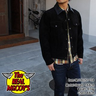 <img class='new_mark_img1' src='http://www.realmccoys-nagoya.co.jp/img/new/icons15.gif' style='border:none;display:inline;margin:0px;padding:0px;width:auto;' />JOE McCOY ROUGH OUT LEATHER WESTERN JACKET ���������ɥ��㥱�å�