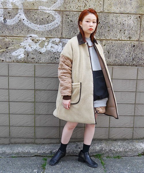 BIG A-LINE COAT_BEIGE/BEIGE_