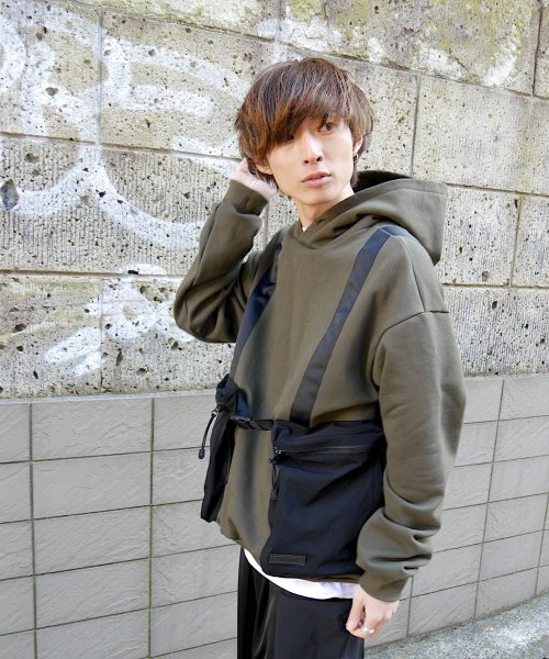 BODY BAG HOODIE  SWEAT_KHAKI_