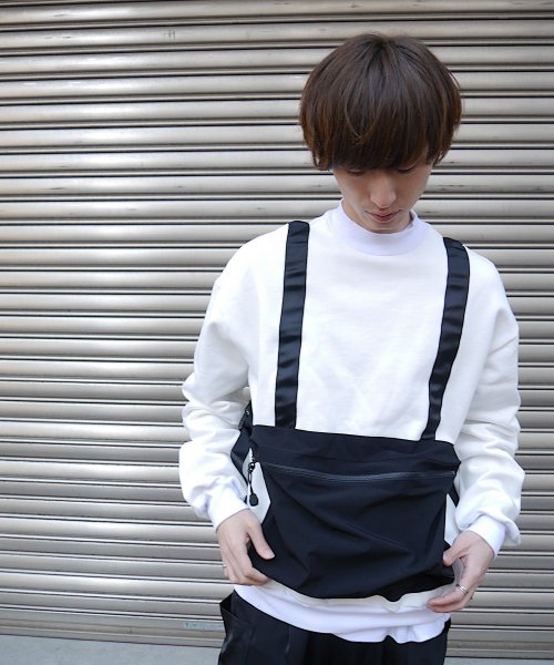 BODY BAG MOCK NECK  SWEAT_WHITE_