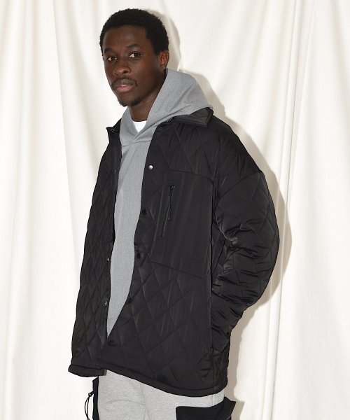 QUILTING BIG JACKET_BLACK_