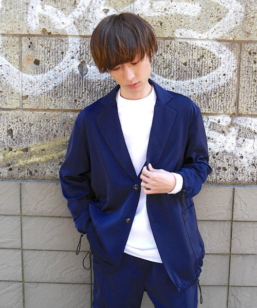 PATCH  POCKET JACKET_NAVY_