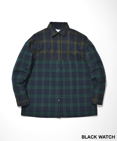 BACK OPEN BIG SHIRT_BLACK WATCH_