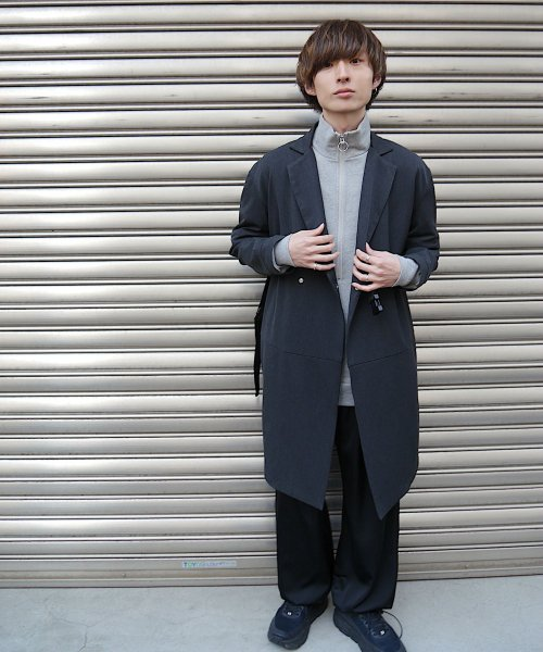 SWITCHING TAIL COAT_C.GRAY/BLACK_
