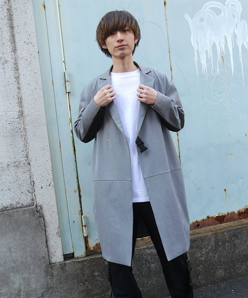 SWITCHING TAIL COAT_GRAY/BLACK_