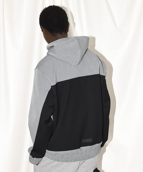 SWITCHING TAIL HOODIE_GRAY/BLACK_