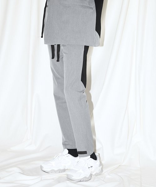 SWITCHING TAIL PANTS_GRAY/BLACK_