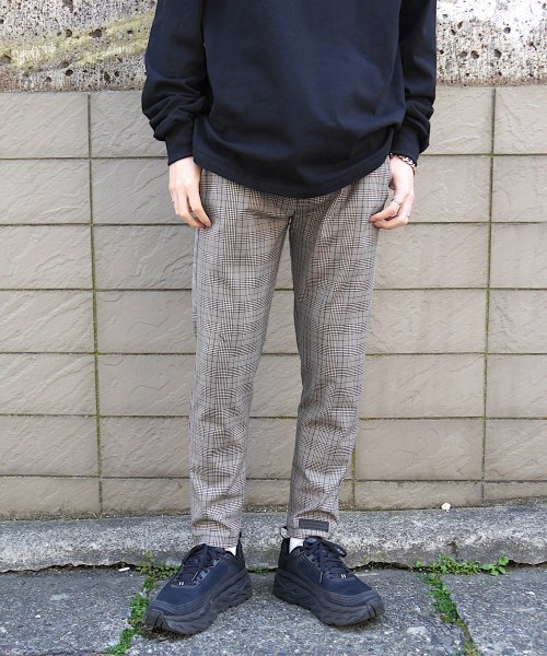 SWITCHING TAIL PANTS_BROWN CHECK_