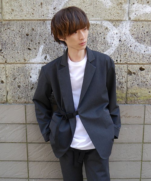 SWITCHING TAIL JACKET_C.GRAY/BLACK_