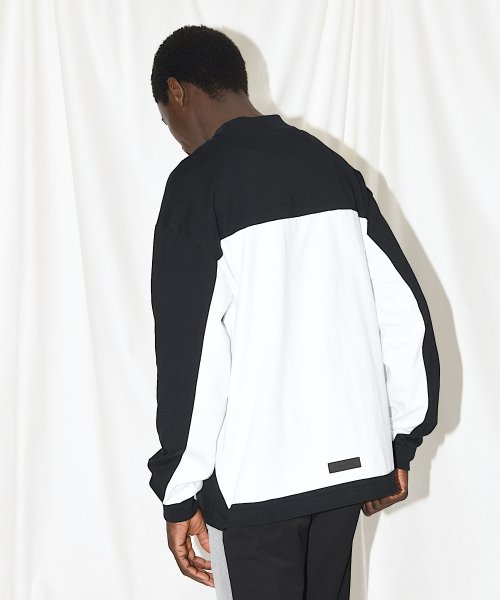 BIG LONG T-SHIRT_BLACK/WHITE_