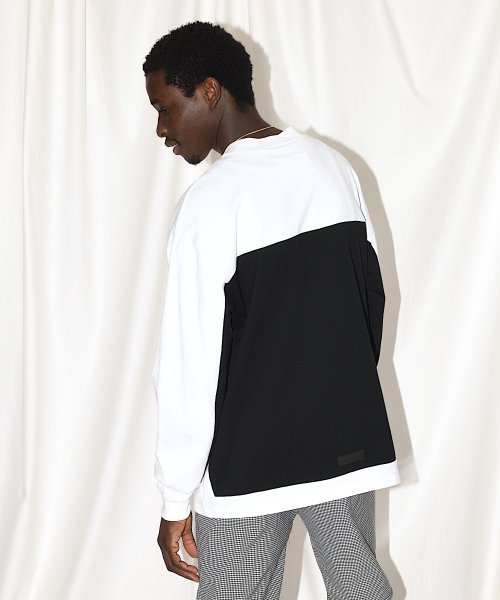 BIG LONG T-SHIRT_WHITE/BLACK_
