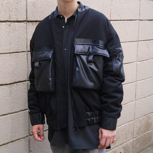 INNER COTTON BLOUSON_BLACK_