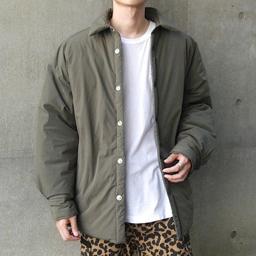 INNER COTTON BIG SHIRT_KHAKI_