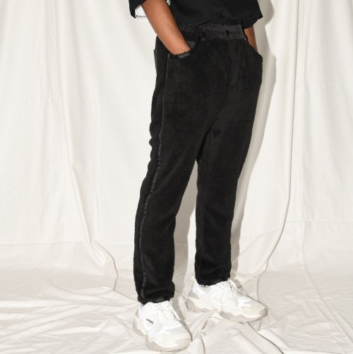 DOUBLE-FACE PANTS_BLACK_