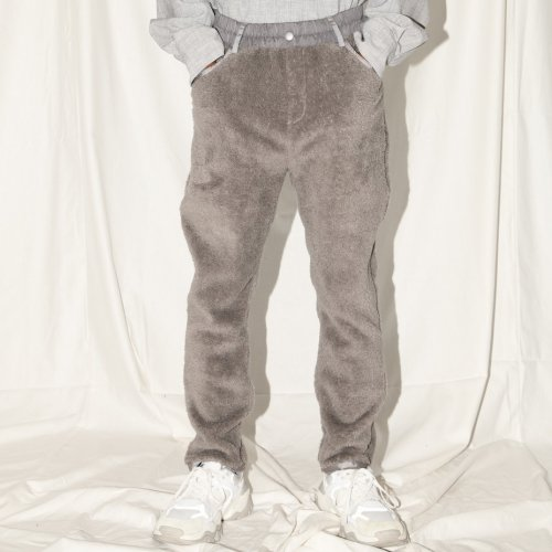 DOUBLE-FACE PANTS_GRAY_