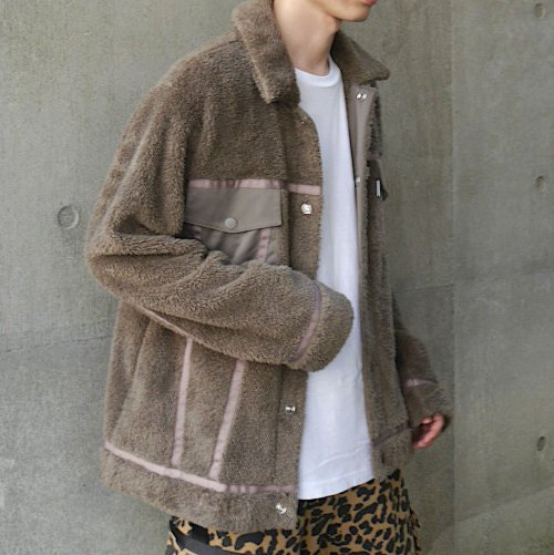 DOUBLE-FACE JACKET_MOCHA_