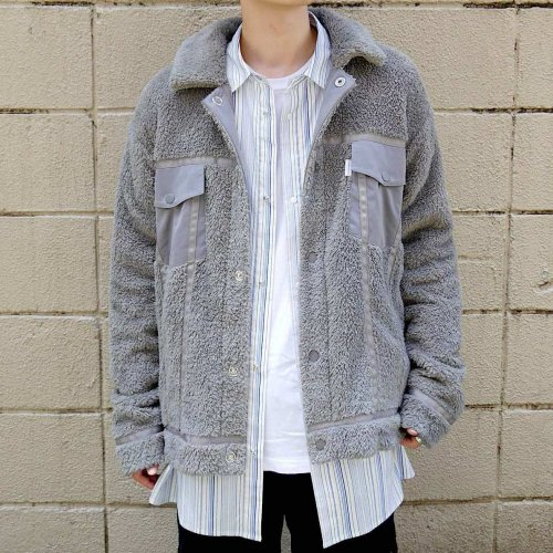 DOUBLE-FACE JACKET_GRAY_