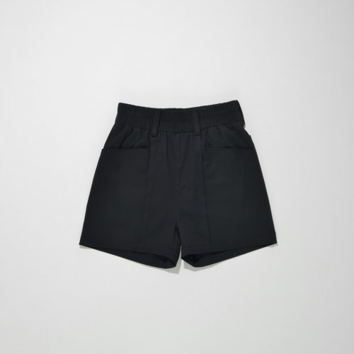 PATCH POCKET SHORT PANTS_BLACK_