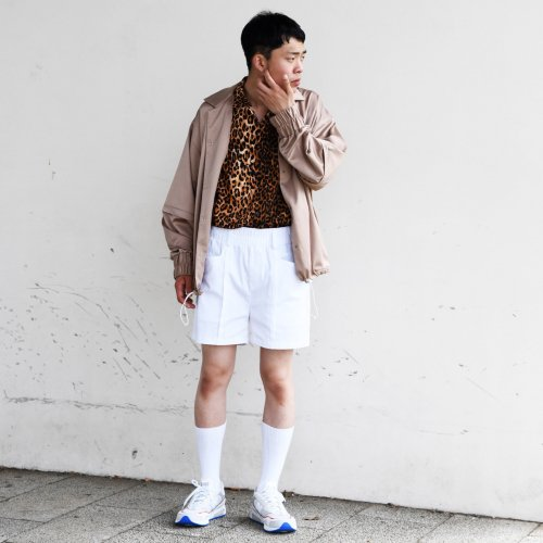 PATCH POCKET SHORT PANTS_WHITE_