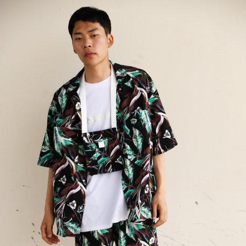 PATCH POCKET SHORT SLEEVE SHIRT_BOTANICAL_