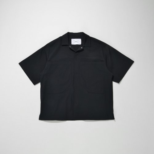 PATCH POCKET SHORT SLEEVE SHIRT_BLACK_