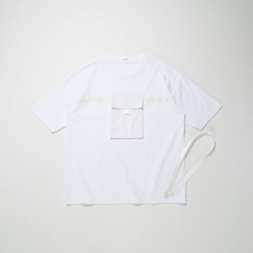 PATCH POCKET T-SHIRT_WHITE/WHITE_