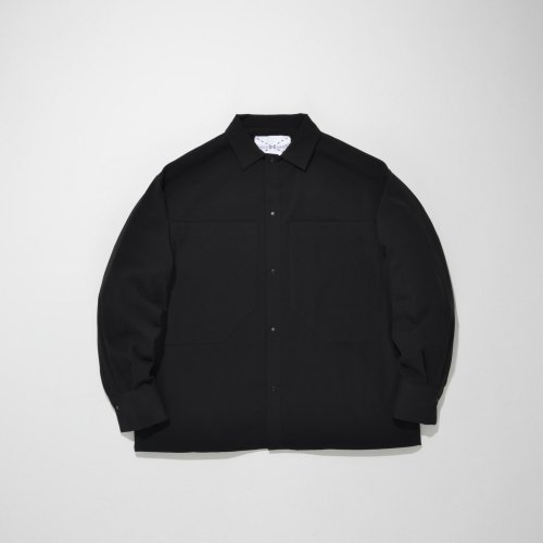PATCH POCKET SHIRT_BLACK_