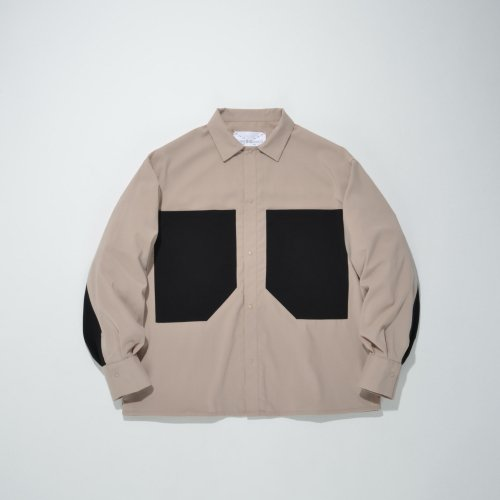 PATCH POCKET SHIRT_BEIGE_