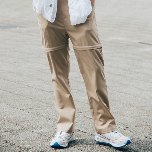 PATCH POCKET 2WAY PANTS_BEIGE_