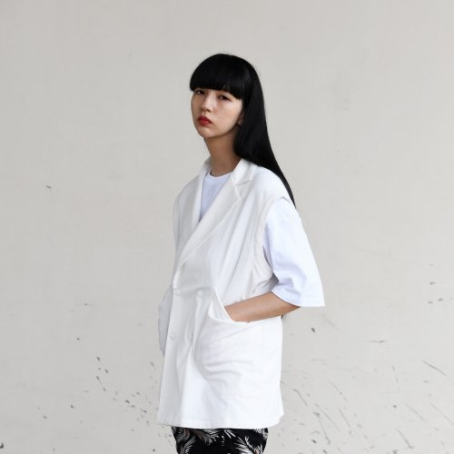 PATCH POCKET 2WAY JACKET_WHITE_