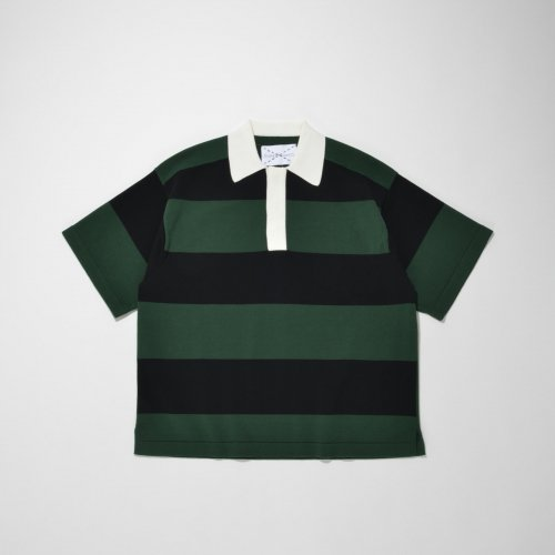 KNIT POLO SHIRT_GREEN/BLACK_