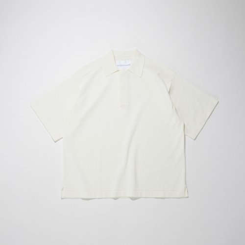 KNIT POLO SHIRT_WHITE_