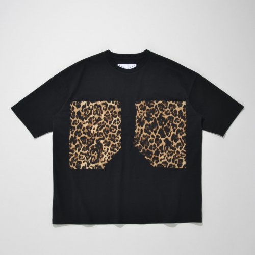 PATCH POCKET T-SHIRT_BLACK/LEO_
