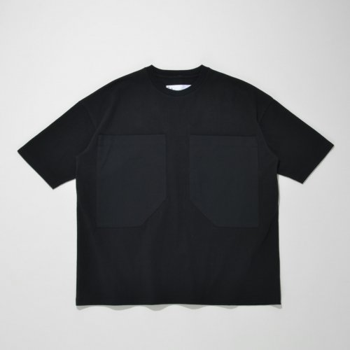 PATCH POCKET T-SHIRT_BLACK/BLACK_