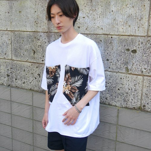 PATCH POCKET T-SHIRT_WHITE/BOTANICAL_