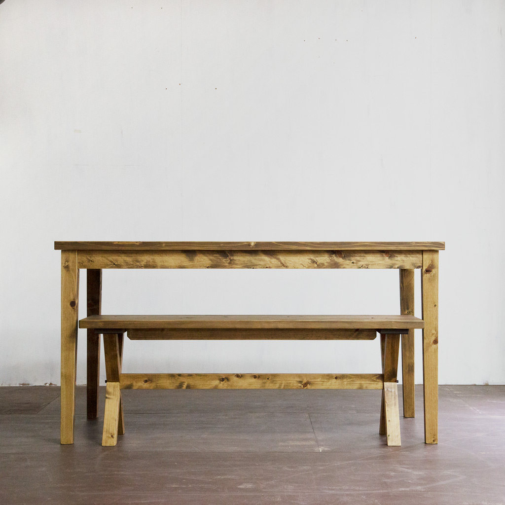 Gatemouth Dining Table 140・Gatemouth bench