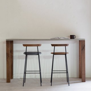 NOMBE high table mortar walnut|ノンベ ハイテーブル モルタル ウォールナット<img class='new_mark_img2' src='https://img.shop-pro.jp/img/new/icons7.gif' style='border:none;display:inline;margin:0px;padding:0px;width:auto;' />