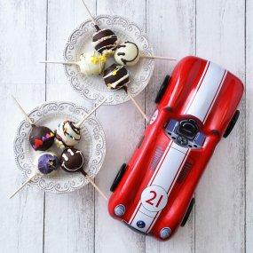 【8本セット】おすすめポップケーキ+シルバークレイン缶(レーシングカー)入り