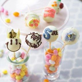 【7本セット・イニシャル・名入れ】HAPPY BIRTHDAY / ホワイトチョコ(白)