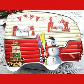 【8本セット】おすすめポップケーキ+シルバークレイン缶(クリスマスキャンピングカー)入り