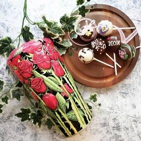 【6本セット】母の日スペシャル+シルバークレイン缶(バラ缶)入り