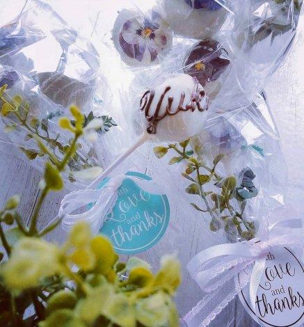 メディアにも取り上げられた あのポップケーキ ビオラのお花ブーケ スイートチョコ 長スティック 6本セット Mihopan Popcake ミホパン ポップケーキ