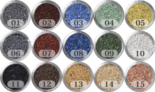 日本製のカラーサンド 大粒(1〜1.7mm位) Fタイプ 15色の中からお好きな色を1色 200g