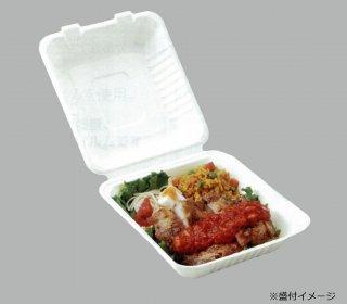 【パルプモールド容器】P-SH08-3 紙製弁当容器 ケース (200枚)