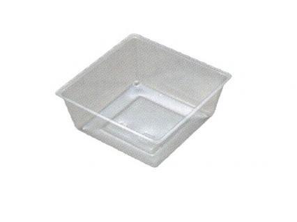 【ワンウェーブロック仕切】 H-151-48E: 5.5寸用 (78角) 中子 透明 1袋(100入)