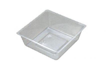 【ワンウェーブロック仕切】 H-151-57E: 6寸用 (87角) 中子 透明 1袋(100入)