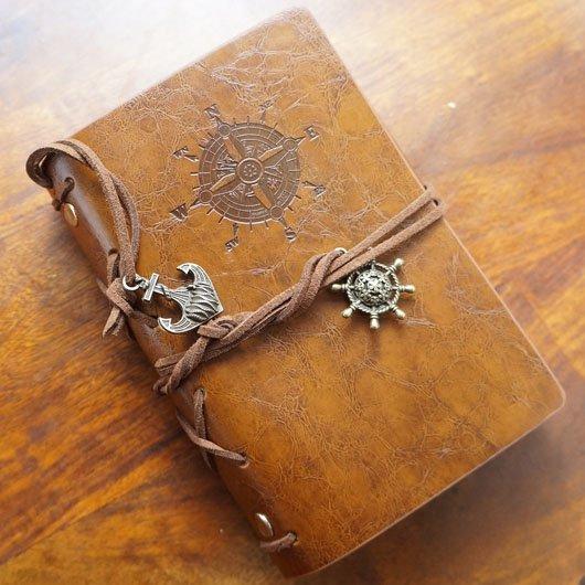 航海風デザインの旅人手帳