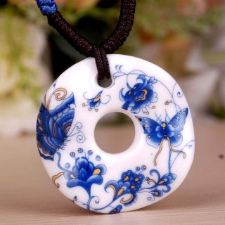 景徳鎮陶器 ペンダント-3
